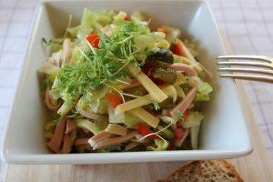 Leichter Wurstsalat mit Käse 1
