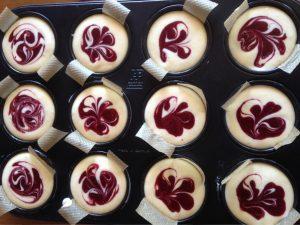 Oreo-Süßkirschen-Cheesecake Muffins 1