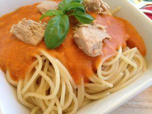 Spaghetti mit Thunfischsauce 1