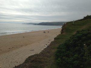 Strand Praa Sands Beach in Cornwall