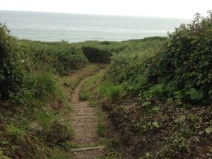 South-West-Coast-Path oberhalb Praa Sands Beach