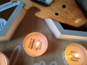 Adventskalender mit Teelichtsprüchen zum Selberbasteln