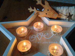 Adventskalender mit Teelichtspruechen zum Selberbasteln