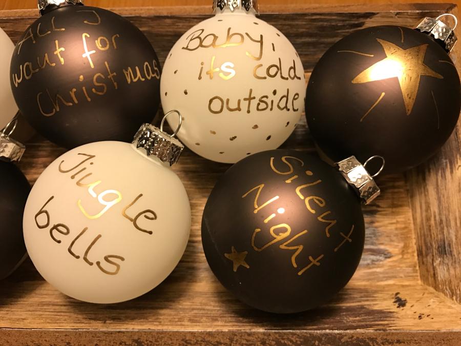 weihnachtskugeln beschriften my blog
