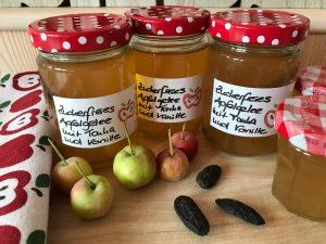 Zuckerfreies Apfelgelee mit Tonka und Vanille