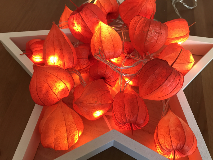 Selbstgemachte, Herbstliche Lichterkette Zur Deko
