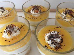 Rezept mit Bildern für ein Dessert im Glas - Maracuja Traum