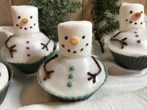Schneemann-Muffins mit Marshmallow