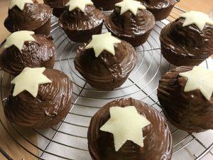 Weihnachtliche Lebkuchen Muffins, herrlich schokoladig