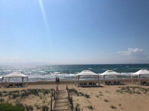 Strand von Kyllini vom Grecotel Thalasso aus