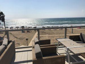 Blick über den Strand von Kyllini