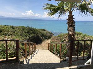 Blick von der Taverne Faros - Arkoudi - gegenüber Zakynthos