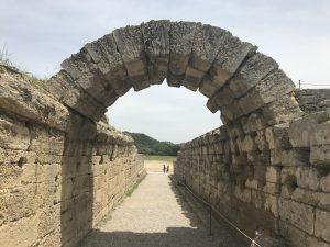 Eingangstor zum antiken Stadion von Olympia - Peloponnes