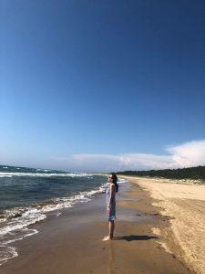 10 km langer Sandstrand von Kyllini auf Peloponnes