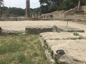 Stelle wo in Olympia - Peloponnes das Olympische Feuer entzündet wird