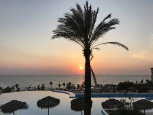 Sonnenuntergang am Strand von Kyllini
