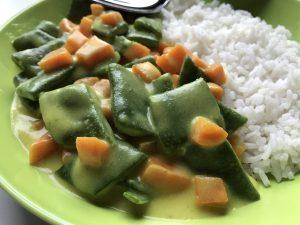 Glutenfrei und lecker - Gemüse in Currysoße mit Basmatireis