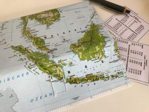Landkartenetui für Reisedokumente selber machen