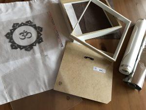 Material für Lichtbox mit OM Symbol
