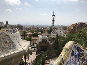 Parc Guell Barcelona - Blick zum Haupteingang