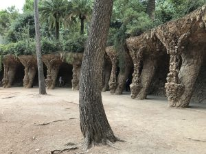 Viadukte im Parc Guell Barcelona