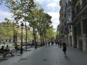 Prachtboulevard Passeig de Gracia Barcelona