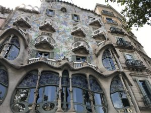 Fassade Casa Batllo von Gaudi Barcelona