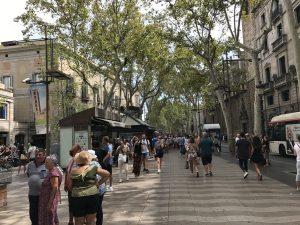 Entlang der Rambla Barcelona