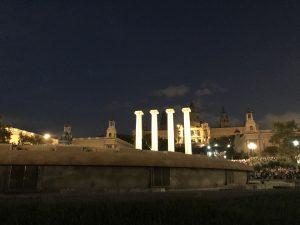 Kurz vor der Brunnenshow Font Magia Barcelona
