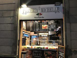 Pizzeria in der Carrer Nou de la Rambla Barcelona