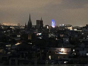 Städtereise Barcelona - Torre Glories bei Nacht