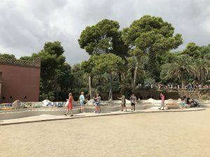 Städtereise Barcelona - Parc Guell - Mosaikenbank