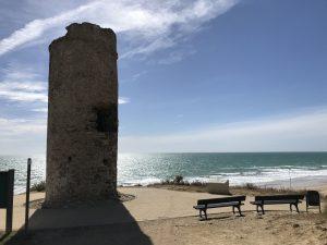 Blick vom Torre del Puerco am Playa La Barrosa