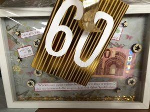 Geldgeschenk zum 60. Geburtstag