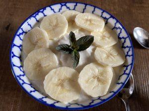 Bananen Quark Creme mit Haferflocken